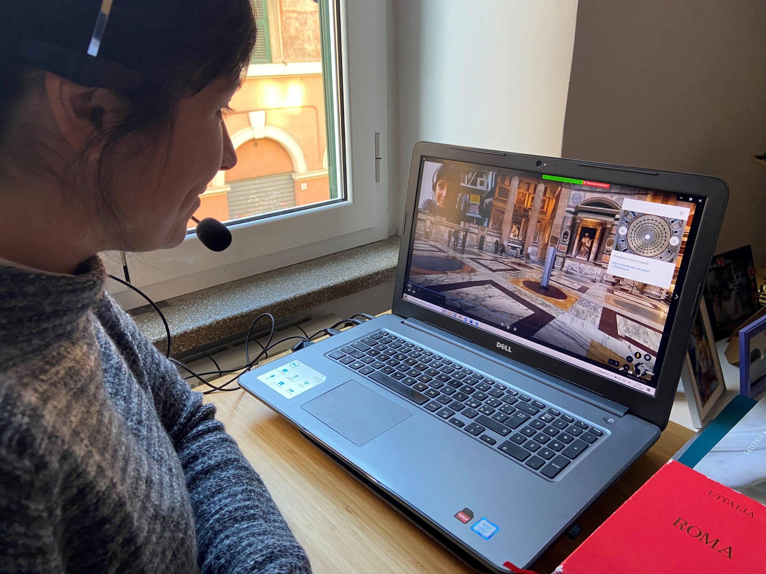 Francesca Pagliaro of Joy of Rome explaining the highlights of Rome