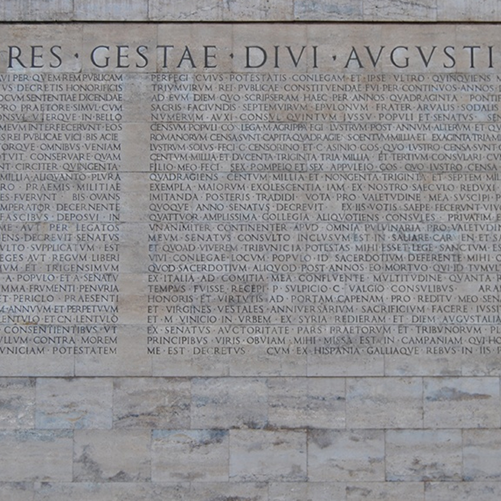 Res Gestae Augustus on the Ara Pacis Caesar and August Tour Joy of Rome