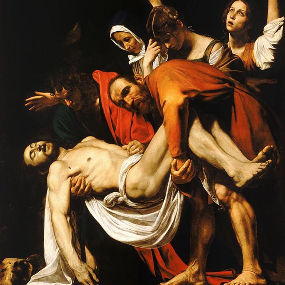 The Entombment of Christ-Caravaggio (c.1602-3)Caravaggio walking Tour Joy of Rome