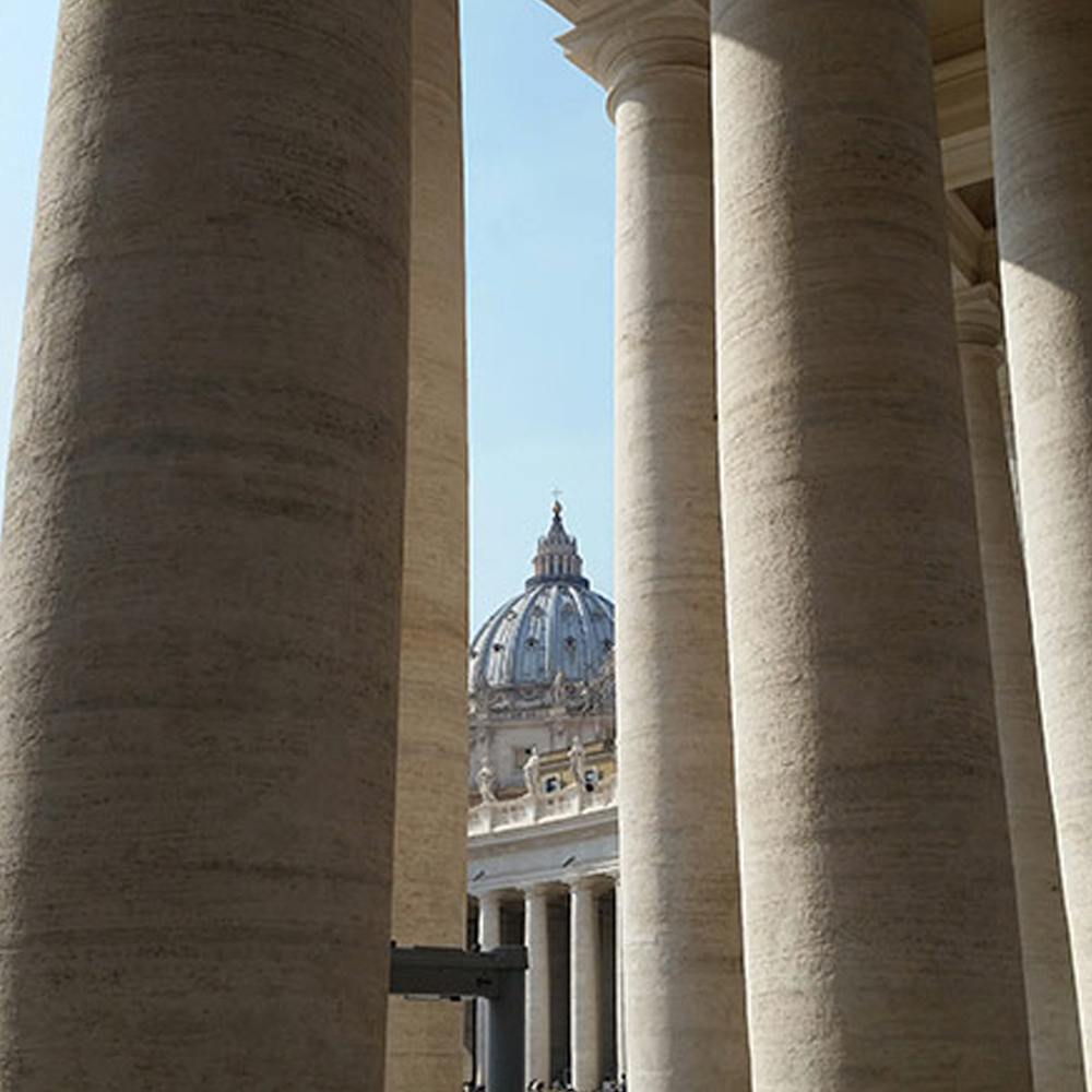 St Peter s dome and columnade Vatican guided Tour Joy of Rome