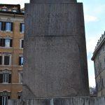 Base of the Obelisk of Psammetico II in Montecitorio Square