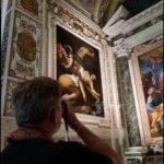 Crocifissione di Pietro di Caravaggio, Cappella Cerasi, Santa Maria del Popolo, Roma. Caravaggio Guided Tour in Rome