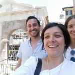 Francesca and her guests during the Tour of the Jewish District Rome