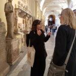 Francesca explaining the Vatican Collections