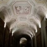 Gallery of Tapestries by night, Vatican Museums