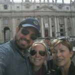 Happy visitors of the St Peter's Basilica