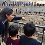 Inside the Colosseum with kids