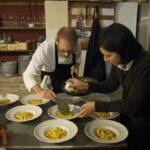 Pasta making, Francesca and Salvatore finalizing their gnocchi