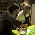 Pasta making, students at work