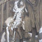 Rome street art walking tour torpignattara Verlato Hostia detail