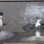 Street art tour in Rome, Herbert Baglione, Ostiense