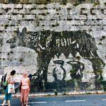 Street art tour in Rome Kentridge, Tiber River 02