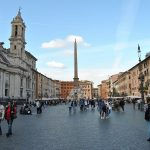 Twilights of Rome and a glass of wine, Piazza Navona