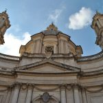 Twilights of Rome and a glass of wine, Sant'Agnese in Agone